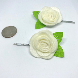 felt rose hairpin