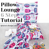 6 Step Pillow Lounge Tutorial