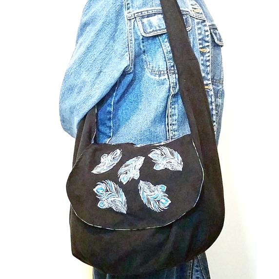 Sling bag jeans design