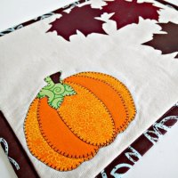 Autumn or Fall Mug Rug Pattern - Tutorial With Free Templates