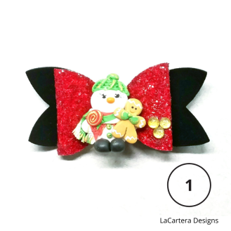 Holiday Hair Bows 1